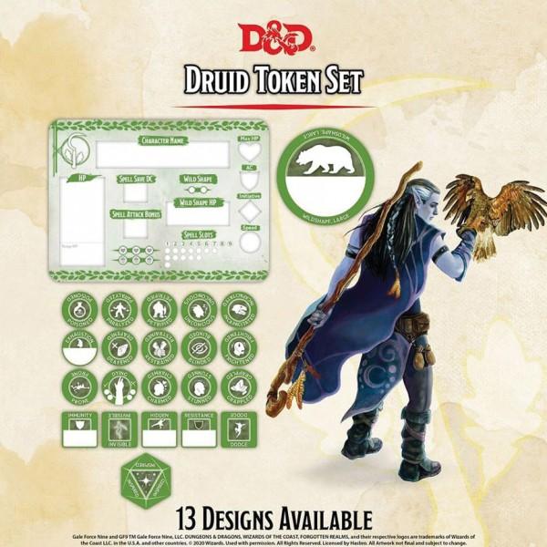 D&D Druid Token Set (Player Board & 22 Tokens)