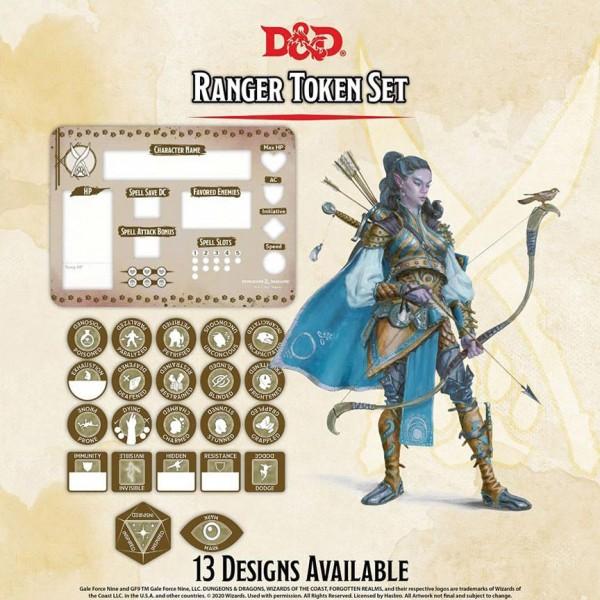D&D Ranger Token Set (Player Board & 22 Tokens)