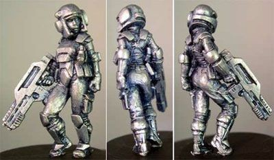 Debra, armoured Female w/Pistol & Pulserifle
