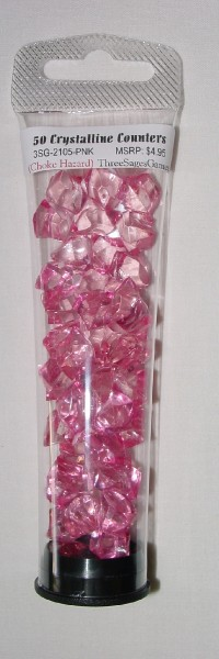 Crystalline Counters Pink (50)
