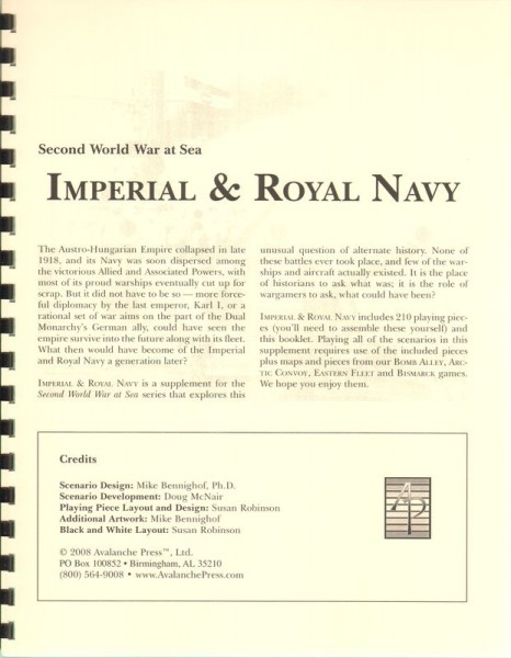 AP: WWII at Sea: Imperial & Royal Navy