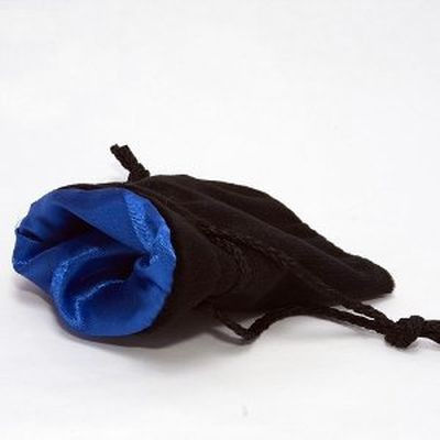Chessex: Velvet Dice Bag Blue ins./Black outs. gr