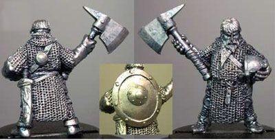 Male Dwarf with Greataxe, Helmet & Shield