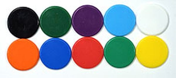 Counters 22mm (40) White