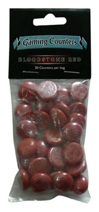 Glassteine Opaque Blutrot (30) Gaming Counter