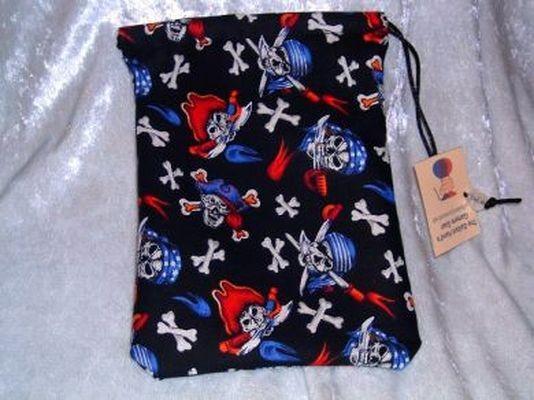 Skull & Crossbones Pirates Cotton Gamer Bag