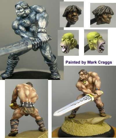 Wolf, male barbarian with choice of three heads
