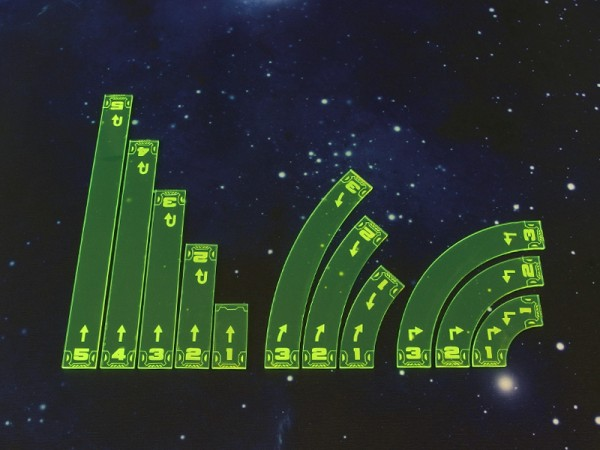 Space Fighter Move Templates (Green)