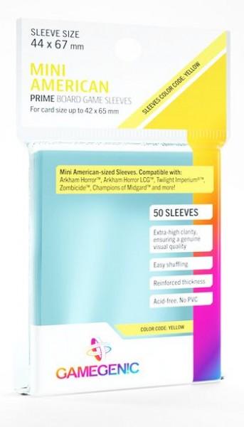 Gamegenic 44 x 67 mm Prime Boardgame Sleeves: Mini American (50)