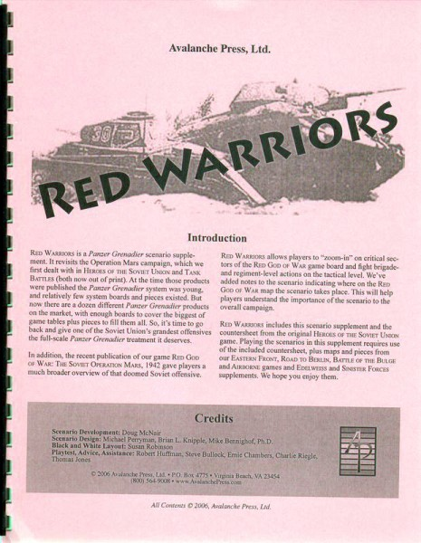 AP: Panzer Grenadier: Red Warriors