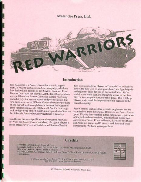 AP: Panzer Grenadier: Red Warriors