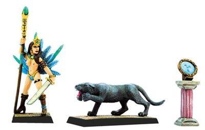 Amazonenkönigin mit Panther