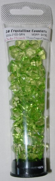 Crystalline Counters Green (50)