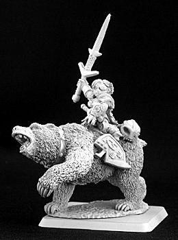 Ursula, Dwarven Bear Rider Captain