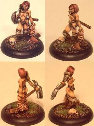 Kalee, human warrioress with living axe