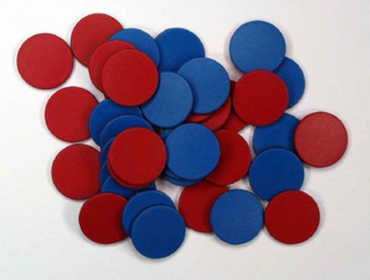 Counters 25mm Doublesided Red/Blue