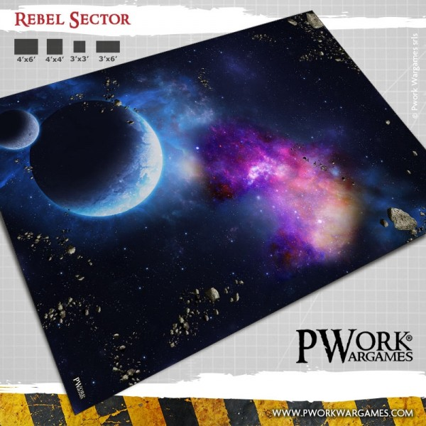 Weltraumspielmatte Rebel Sector 90x90cm