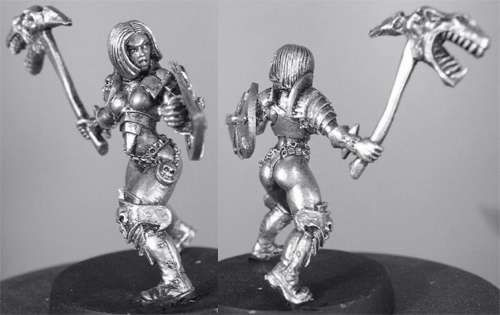 Kalee (b) Warrioress w/Living Axe in Action Pose