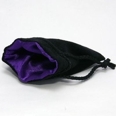 Chessex: Velvet Bag Purple ins./Black outs. gr