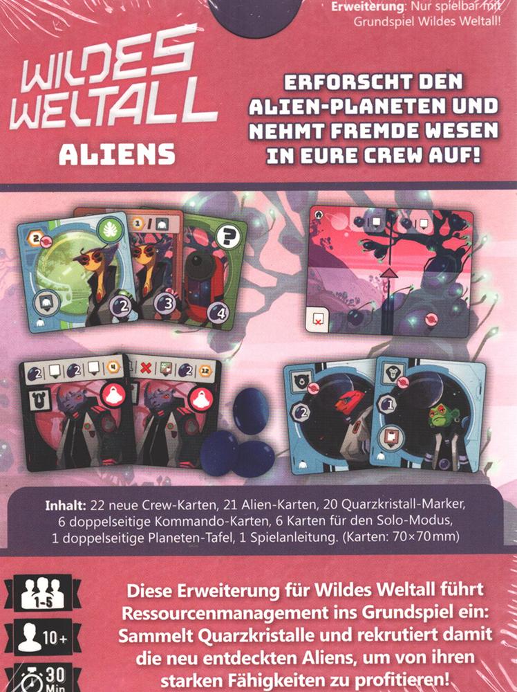 WILDES WELTALL DEUTSCH Board Game Circus- OVP ALIENS ERWEITERUNG Spiel