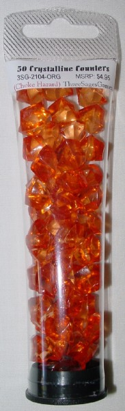 Crystalline Counters Orange (50)