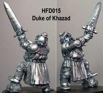 Duke of Khazad, victorious Dwarf with big Sword
