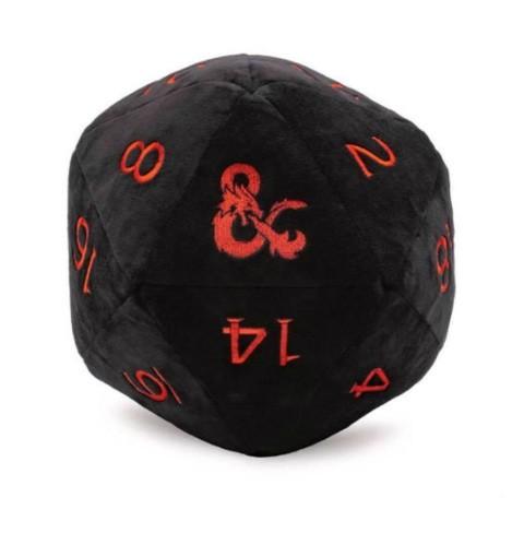 Jumbo D20 Plush Dice: Black for Dungeons & Dragons