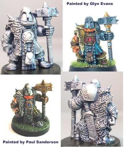 Kain, male dwarf with big warhammer
