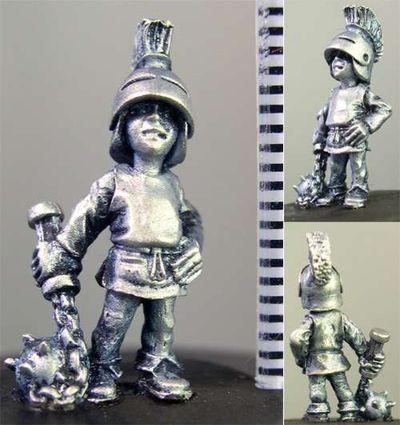 Albert, Child with Morningstar & Helmet