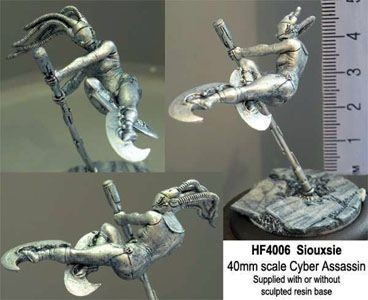 Siouxsie, 40mm high-kicking Cyberassissin