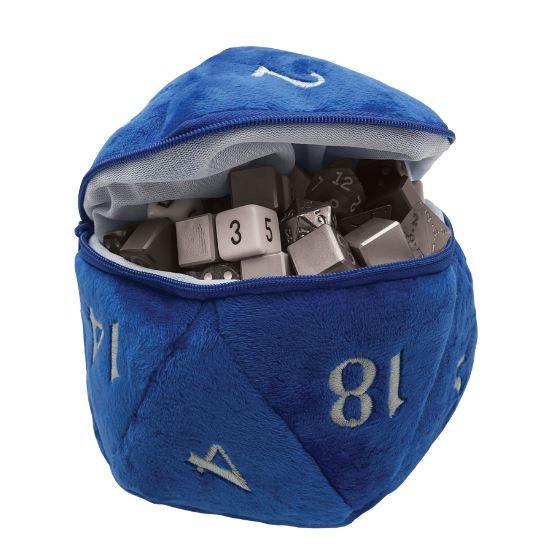 Dice Pouch: D20 Plush - Blue