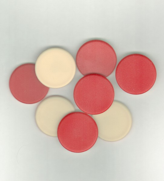 Counters 25mm Doublesided Red/White