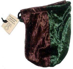 Forest & Brown Velvet Bag