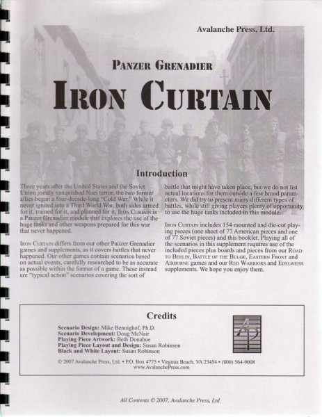 AP: Panzer Grenadier: Iron Curtain
