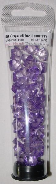 Crystalline Counters Purple (50)
