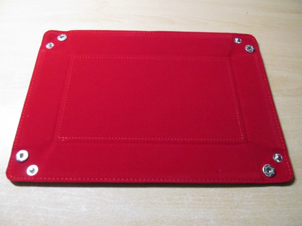Rectangle Folding Dice Tray - Red