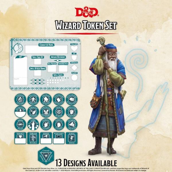 D&D Wizard Token Set (Player Board & 22 Tokens)