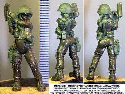 McKenzie, armoured & armed modern Female