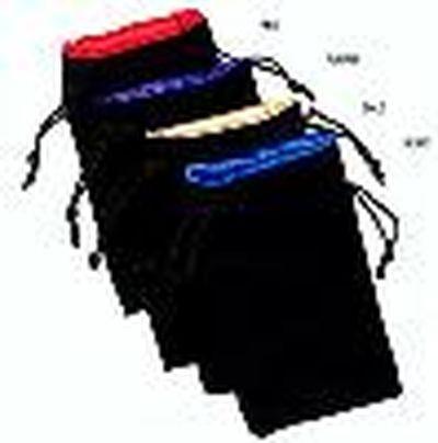 Chessex: Velvet Dice Bag Gold ins./Black outs. kl