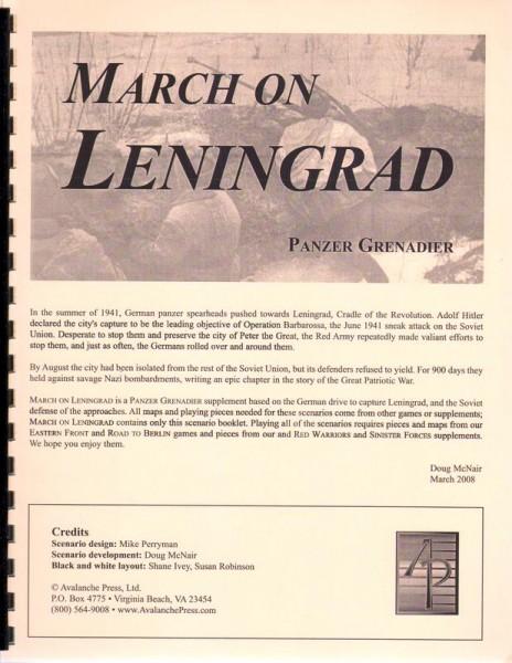 AP: Panzer Grenadier: March on Leningrad
