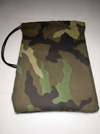 Camo Print Cotton Dice Bag