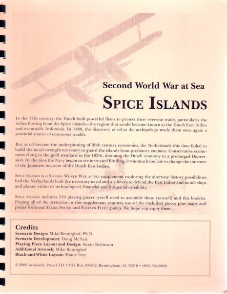 AP: WWII at Sea: Spice Islands
